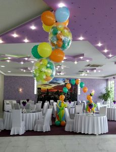 Balon dekor balon eksplozije