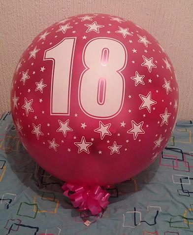 Balon dekor male balon eksplozije